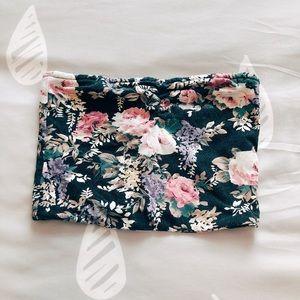 🌸 Black Floral Bandeau Top 🌸